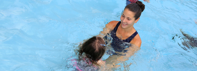 Swimming towards the teacher